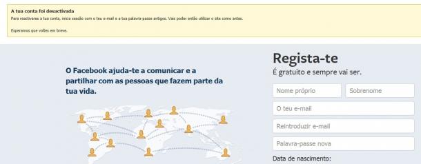 como apagar o facebook