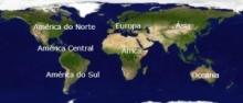 Continentes por Ordem Crescente e Decrescente