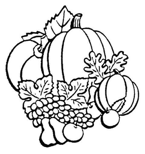 frutos de outono para colorir
