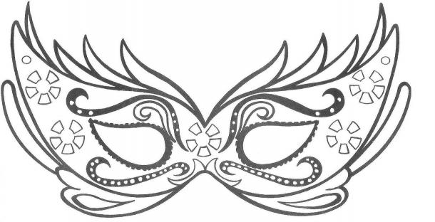 Máscaras de Carnaval - molde1